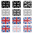 Stock Vector: uk flags