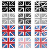 Uk flags — Stock Vector
