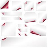 赤い紙カール — ストックベクタ