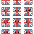 Uk emoticons — Stock Vector