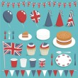 Uk party set - Stock Vector