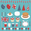 Uk party set — Stock Vector