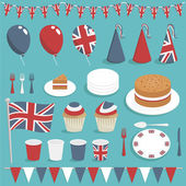 Uk party set — Stockvector