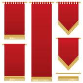 Décorations murales en rouges — Vecteur