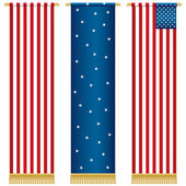 Stars and stripes wall hangings — Stock Vector