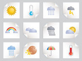 Weather stickers — Stock Vector