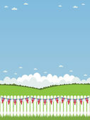 Uk picket fence — Stock Vector