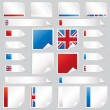 Uk stickers and tabs — Stock Vector #9660113