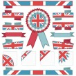 Uk stitched ribbons — Stock Vector #9661526