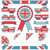Uk stitched ribbons — Stock Vector