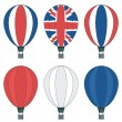 Uk hot air balloons — Stock Vector