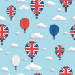 Uk hot air balloon pattern — Stock Vector