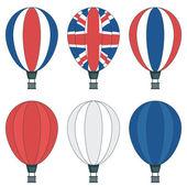 Uk hot air balloons — Stock Vector