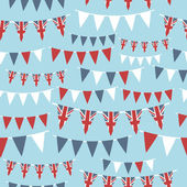 Uk party bunting — Stockvector
