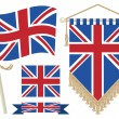 Uk flag and pennant — Stock Vector