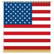 Usa wall hanging - Stock Vector
