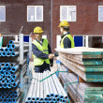 Building contractors — Stock Photo