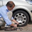 Inflating tyre — Stock Photo #8387034