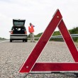 Warning triangle — Stock Photo