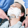 Being shaved — Stock Photo