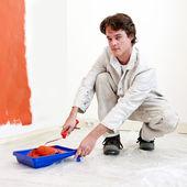 Peintre au travail — Photo