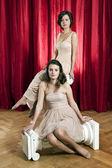 Portrait of two women — Stock Photo
