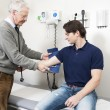 Getting Blood Pressure Checked — Foto Stock