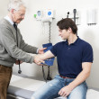 Getting Blood Pressure Checked — Stock Photo