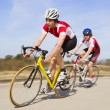 Sprinting cyclists — Stock Photo