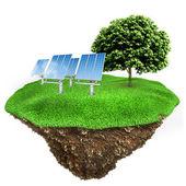 3d-groene energieconcept — Stockfoto