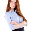 Portrait of a young beautiful business woman — Stock Photo