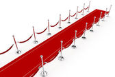 3d red carpet illustration — Stock Photo