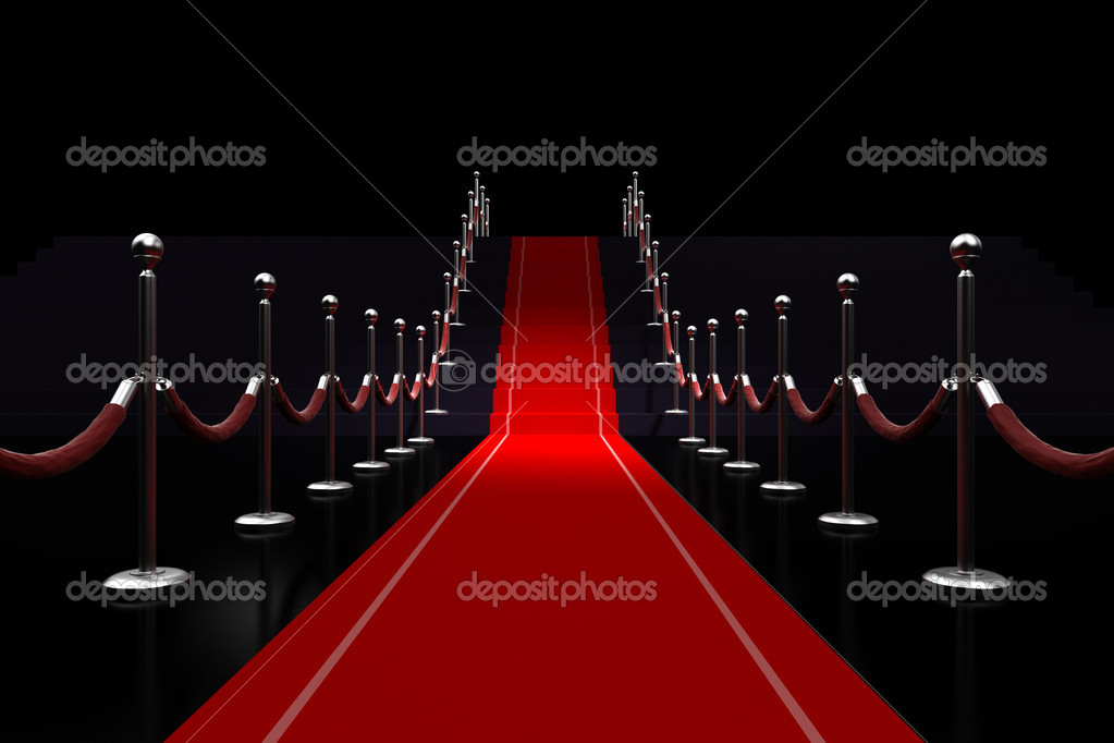 3d red carpet illustration — Stock Photo #10625164