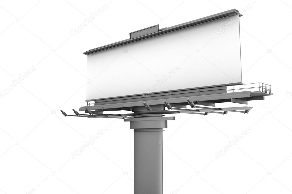 3d blank billboard — Stock Photo #10651695