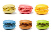 Assorted colorful french macarons — Stock Photo