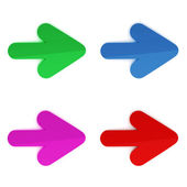 3d colorful arrows on white background — Stock Photo