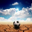 Royalty-Free Stock Photo: Soccer in desert land