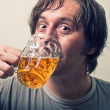 Stock Photo: Beer drinker