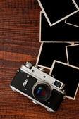 Retro style camera — Stock Photo