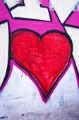 Hjärtat grafitti — Stockfoto