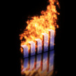 Graph burning — Stock Photo