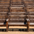 Stock Photo: Wooden benches