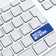 Social Network Keyboard — Stock Photo