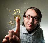 Touch-screen mail inbox — Stock Photo