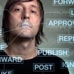 Social network addiction — Stock Photo