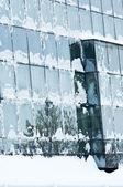 Oficina congelados windows — Foto de Stock