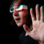 человек с анаглиф очки — Стоковое фото