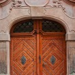 Massive wooden door - Stock Photo