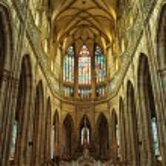 St. Vitus cathedral interior — Stock Photo