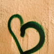 Heart grafitti — Stock Photo